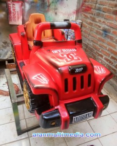 Odong odong model Mobil Jeep Red